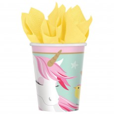 Magical Unicorn Paper Cups 266ml Pack of 8