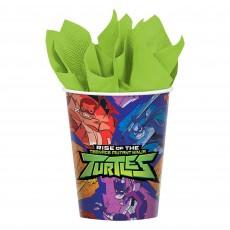 Rise of the Teenage Mutant Ninja Turtles Paper Cups 266ml Pack of 8