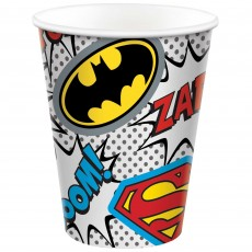 Justice League Party Supplies - Paper Cups Heroes Unite