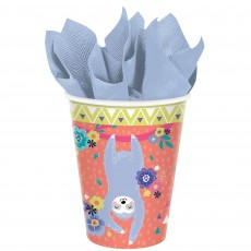 Sloth Paper Cups 266ml Pack of 8