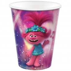 Trolls World Tour Paper Cups 266ml Pack of 8