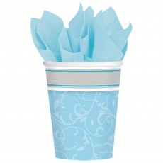 First Communion Blue Blessings Paper Cups