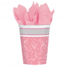 First Communion Pink Blessings Paper Cups