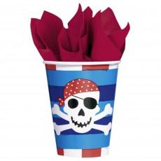 Pirate's Treasure Paper Cups 266ml Pack of 8