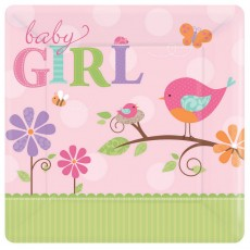 Tweet Baby Girl Banquet Plates