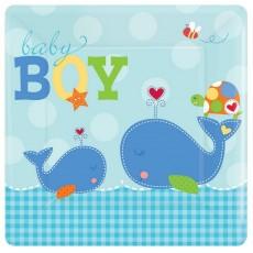 Ahoy Baby Boy Banquet Plates