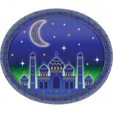 Oval Moon & Stars Banquet Plates 30cm Pack of 8