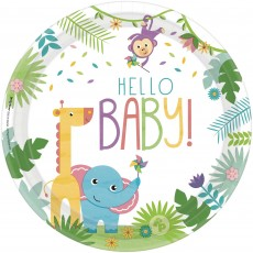 Round Fisher Price Hello Baby Banquet Plates 26cm Pack of 8