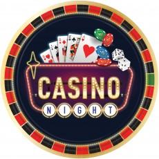 Casino Party Decorations Roll The Dice Banquet Plates