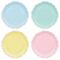 Pastel Party Party Supplies - Dinner Plates Pretty Pastels Shaped