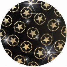 Hollywood Star Attraction Metallic Banquet Plates