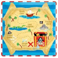 Square Pirate's Treasure Dinner Plates 23cm Pack of 8