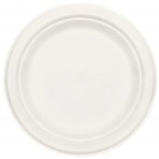 White Eco Party Sugar Cane Lunch Plates 17cm Pack of 50