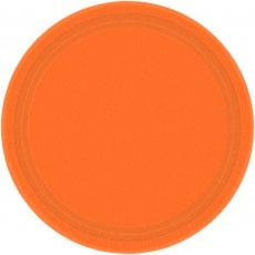Orange Paper Lunch Plates