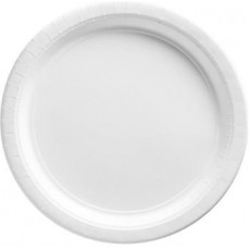 Round Frosty White Paper Lunch Plates 17cm Pack of 20