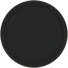 Black Jet Paper Lunch Plates