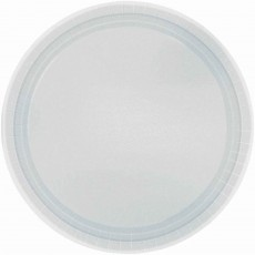 Round Silver Paper Lunch Plates 17cm Pack of 20