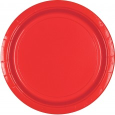 Round Apple Red Paper Lunch Plates 17cm Pack of 20