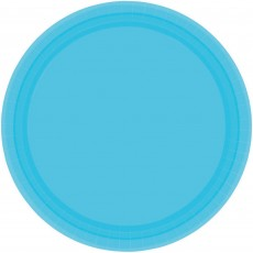 Blue Caribbean Paper Lunch Plates