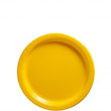 Square Sunshine Yellow Paper Lunch Plates 17cm Pack of 20