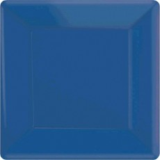 Blue Bright Royal Paper Lunch Plates
