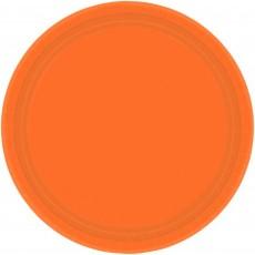 Orange Paper Dinner Plates