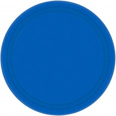 Blue Bright Royal Paper Dinner Plates