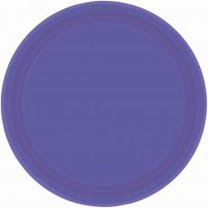 Purple New Paper Dinner Plates