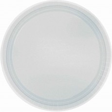 Round Silver Paper Dinner Plates 23cm Pack of 20