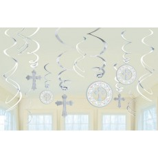 First Communion Religious Swirl Hanging Decorations