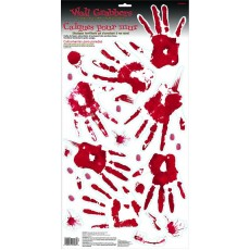 Halloween Skeleton Hand Print Grabber Wall Decoration
