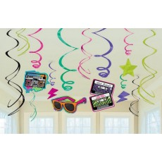 Totally 80's Swirl Hanging Decorations