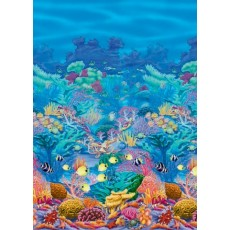 Hawaiian Coral Reef Room Roll Scene Setter
