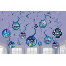 Battle Royal Spiral Hanging Decorations Pack of 12