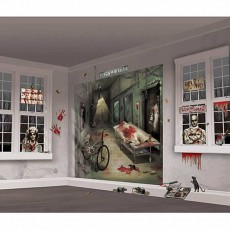 Halloween Asylum Scene Setter Wall Decorating Kits