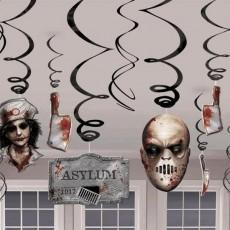 Halloween Asylum Swirls Hanging Decorations