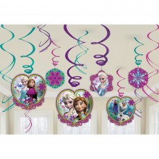 Disney Frozen Swirls Hanging Decorations Pack of 12