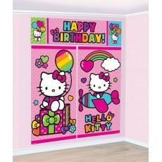 Hello Kitty Rainbow Scene Setters Pack of 5