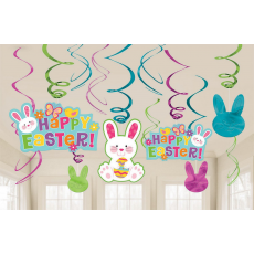 Easter Foil Swirls Hanging Decorations
