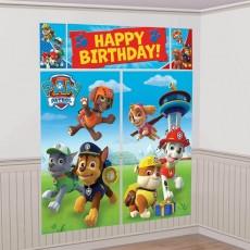Paw Patrol Happy Birthday! Scene Setters 5 Items