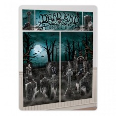 Halloween Cemetery Scene Setter Wall Decorating Kits