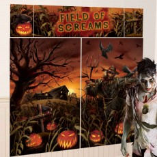 Halloween Field of Screams Pumpkins Wall Decorations