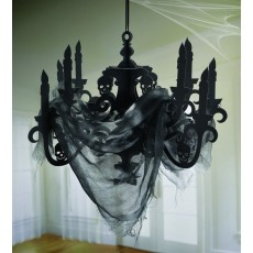 Halloween Haunted Mansion Candelabra with Gauze Misc Decoration