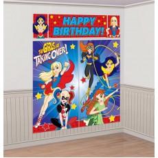 Super Hero Girls Party Decorations - Scene Setters