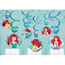 The Little Mermaid Ariel Dream Big Swirls Hanging Decorations Pack of 12