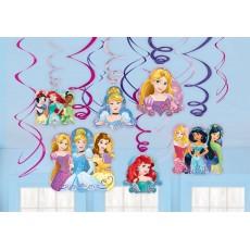 Disney Princess Dream Big Swirl Hanging Decorations Pack of 12