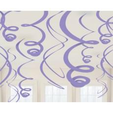 Purple Swirls Hanging Decorations