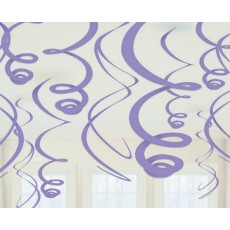 Purple New Plastic Swirl i Hanging Decorations