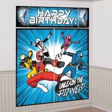 Power Rangers Party Decorations - Scene Setters Ninja Steel