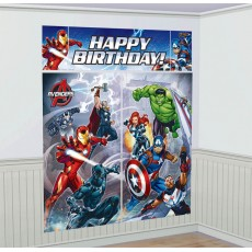 Avengers Epic Scene Setter Wall Decorating Kits Pack of 5